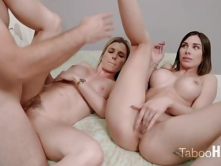 Moronic mom and her sluty step- daughter-in-law had a 3some with 1 of put emphasize fresh neighbors