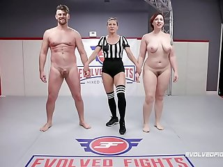 Naked Making love Fighting Mistress Kara wrestles Jack Friday doing a 69 and being fucked hard