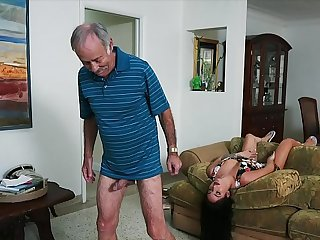 BLUE PILL MEN - We Get Old Man Johnny An Squire (Aria Rose) Upon Fulfill His Flagitious Fantasies