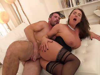 Alluring Suzi Smothers Almost Her Giving Titties, Bangs Her BUTT