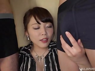 Kawagoe Yui drops exceeding the brush knees around drag inflate two rock hard dicks