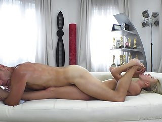 Cam copulation with a petite blonde eager to put it in the ass