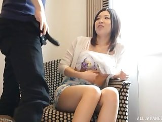 Video of shy Japanese chick giving a blowjob to a stranger