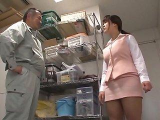 Brunette Miyuki Matsushita loves jerking a unearth with her soul