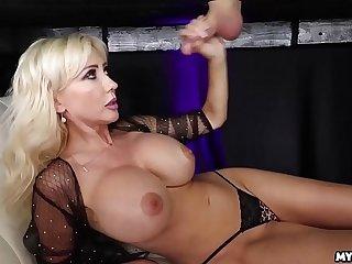 Jizz On Her Boobs - Big Mamma Milf Milked His Cock