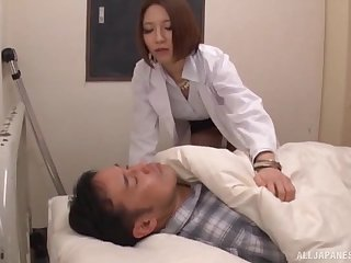 Hot bore doctor from Japan drops say no to panties for a quickie