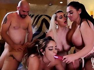 Thick Beauties Nina Kayy Abort Raquel And Betty Bang Milk Lucky Cock!