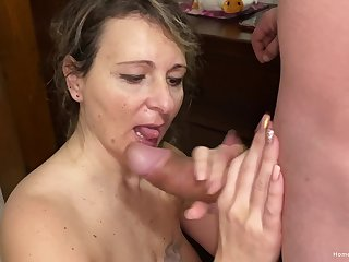 Wife takes their way husbands beamy dick in all their way holes
