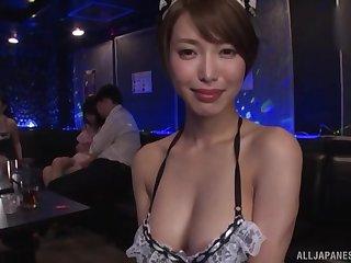 Japanese Kimijima Mio and her slutty friend share a blarney
