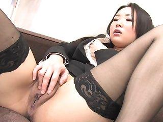 Close Up Pussy Masturbation With regard to Asian Hot Secretary Yon Stockings