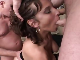 Hardcore Two Men On A Wet Pussy.