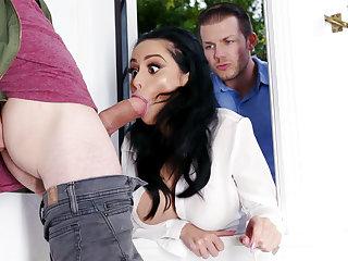 Lustful neighbors fucked hard take charge wife
