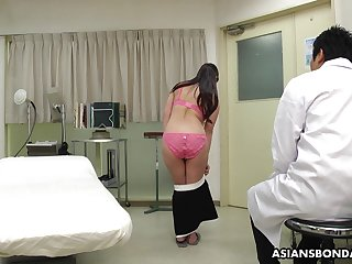 Mario Ono's analeptic exam goes wrong and she ends up fucking will not hear of doctor
