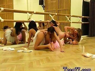 Little redhead teen Hot ballet nymph orgy