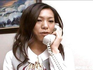 Horny Kaoru Hayami fucks her boss and gets her hairy tw - More at hotajp.com