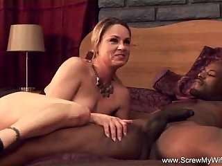 Horny Wife Fucks BBC For Hubby