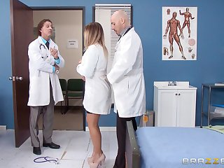 Blonde nurse fucked distance from behind by a randy doctor - Payton West